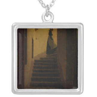 Lady on the Staircase Silver Plated Necklace