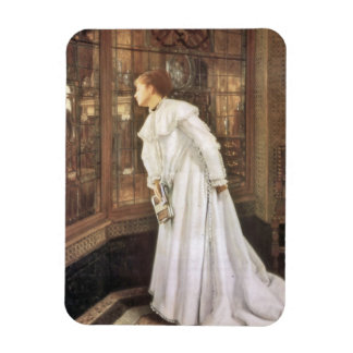 Lady on the Stairs Rectangular Photo Magnet