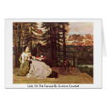Lady On The Terrace By Gustave Courbet Card