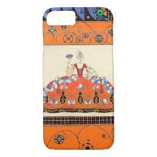 LADY ORANGE BLACK SWIRLS /FASHION COSTUME DESIGNER iPhone 7 CASE