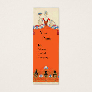 LADY ORANGE FASHION COSTUME DESIGNER MAKEUP ARTIST MINI BUSINESS CARD