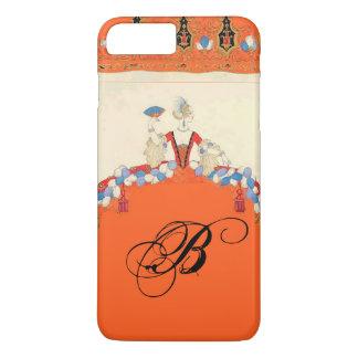 LADY ORANGE FASHION COSTUME DESIGNER MONOGRAM iPhone 8 PLUS/7 PLUS CASE