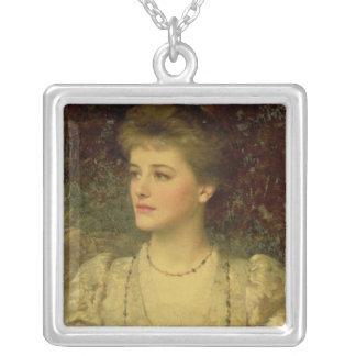 Lady Palmer Square Pendant Necklace