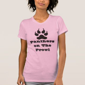 Lady Panther On The Prowl T-shirts