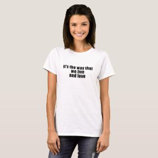 Lady PartsTV Lesbian Movie Club Live & Love Shirt