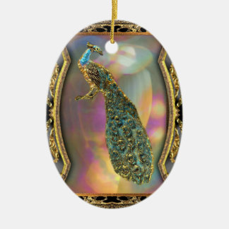 Lady Peacock Christmas Ornament