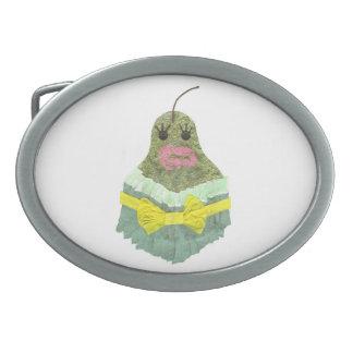 Lady Pear Buckle Oval Belt Buckle