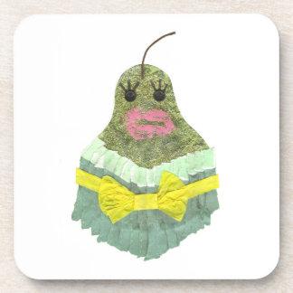 Lady Pear Cork Coasters