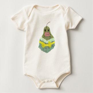 Lady Pear No Background Organic Babygro Baby Bodysuit