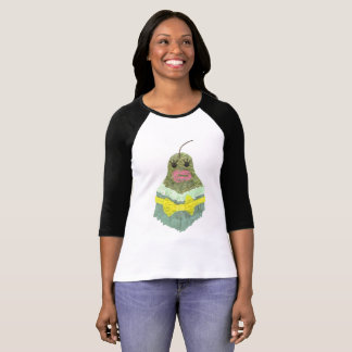 Lady Pear No Background Women's Raglan Top