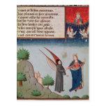 Lady Philosophy leads Boethius in flight Postcard