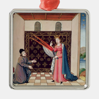 Lady Philosophy offers to Boethius  wings Christmas Ornament