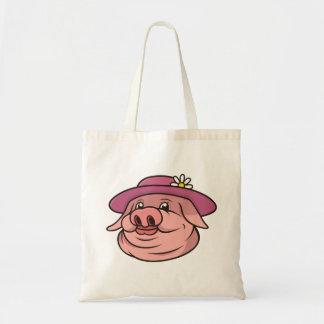 Lady Pig Portrait Tote Bag