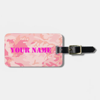 Lady Pink Camo luggage tag