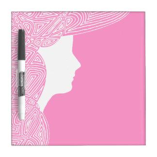 Lady Pink Dry-Erase Whiteboard