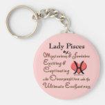 Lady Pisces Zodiac Keychain