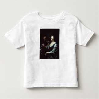 Lady playing a spinet and a flautist toddler T-Shirt