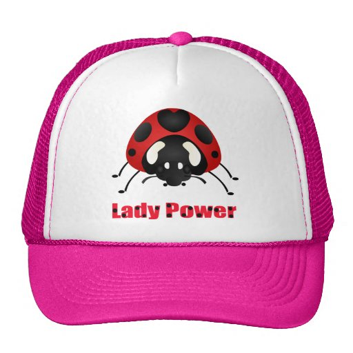 """Lady Power"" Ladybug Trucker Hats"