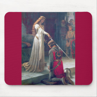 Lady queen knighting knight antique painting mouse mat