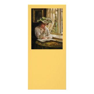 Lady Reading by a Window 10 Cm X 23 Cm Rack Card