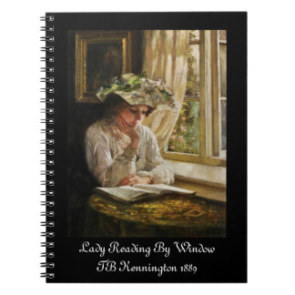 Lady Reading by Window Spiral Note Book