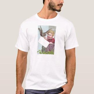 Lady Receives Mail Via Pigeon T-Shirt