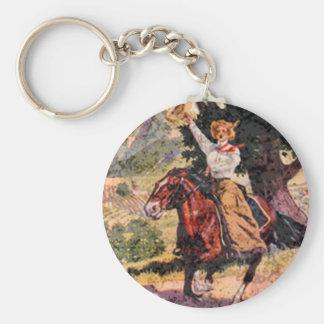 Lady rider key chains
