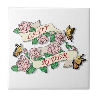 Lady Rider Tile