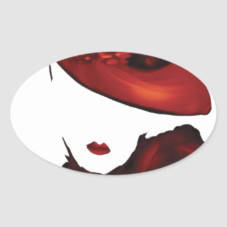 Lady Scarlet Oval Sticker