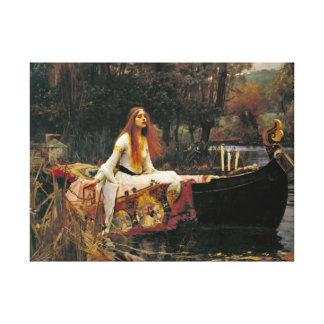 Lady Shalott 1888 Canvas Print