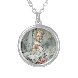 """""""Lady"""" Silver Plated Necklace"""