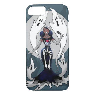 Lady sings the boos spooky singer iPhone case