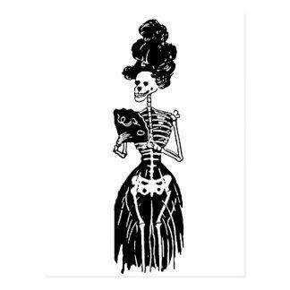 Lady Skeleton Postcard