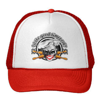 Lady Skull Baker Hat: Let the Good Times Roll Hat