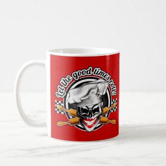 Lady Skull Baker: Let the Good Times Roll Basic White Mug
