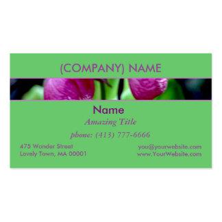 Lady Slipper I, Pink Green Garden Wild Flower Pack Of Standard Business Cards