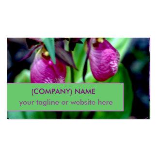 Lady Slipper, Pink Green Garden Delight Endangered Pack Of Standard Business Cards