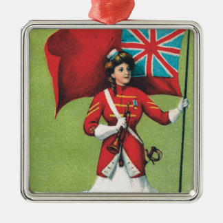 Lady Soldier Great Britain Christmas Tree Ornament