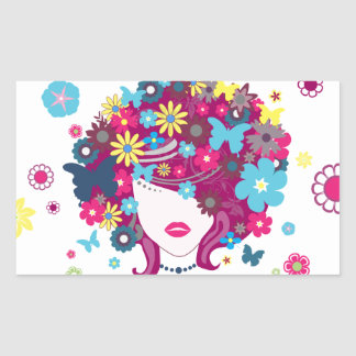Lady Spring Sticker