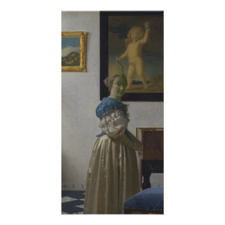Lady Standing at a Virginal by Johannes Vermeer Photo Cards