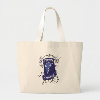 Lady Storm Chaser Large Tote Bag
