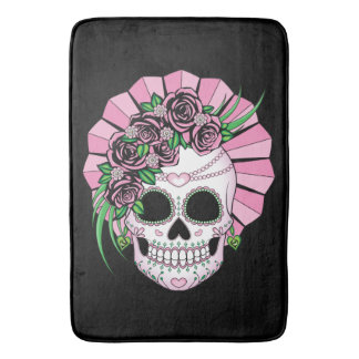 Lady Sugar Skull Bath Mat