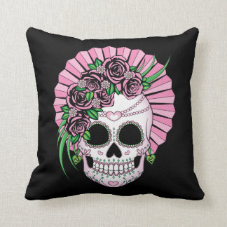 Lady Sugar Skull Cushion