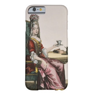 Lady Taking Coffee, fashion plate, c.1695 (engravi Barely There iPhone 6 Case