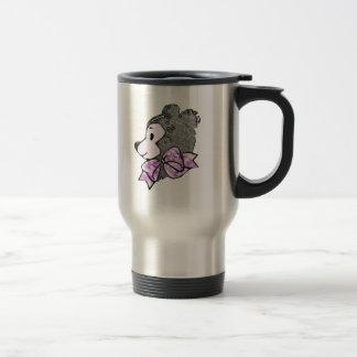 Lady Teddy Bear Stainless Steel Travel Mug