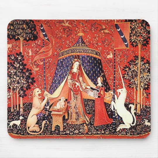 """Lady & the Unicorn"" Mouse Pad"