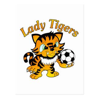 Lady Tigers Soccer Postcards