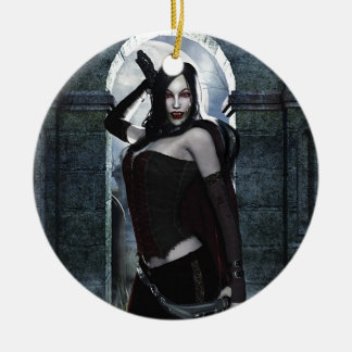 Lady Vamp Christmas Ornament