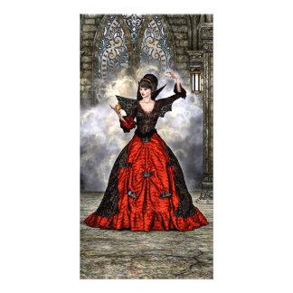 Lady Vamp Photo Greeting Card