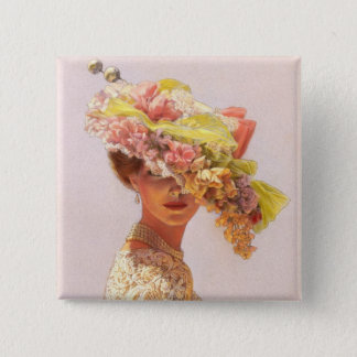 Lady Victoria 15 Cm Square Badge